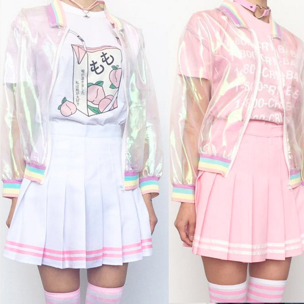 2017 NEW KWAII SKIRT PINK/WHITE, WHITE/PINK
