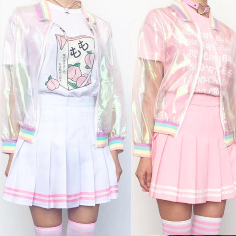 KAWAII KOKO PINK TENNIS SKIRT WITH STRIPED