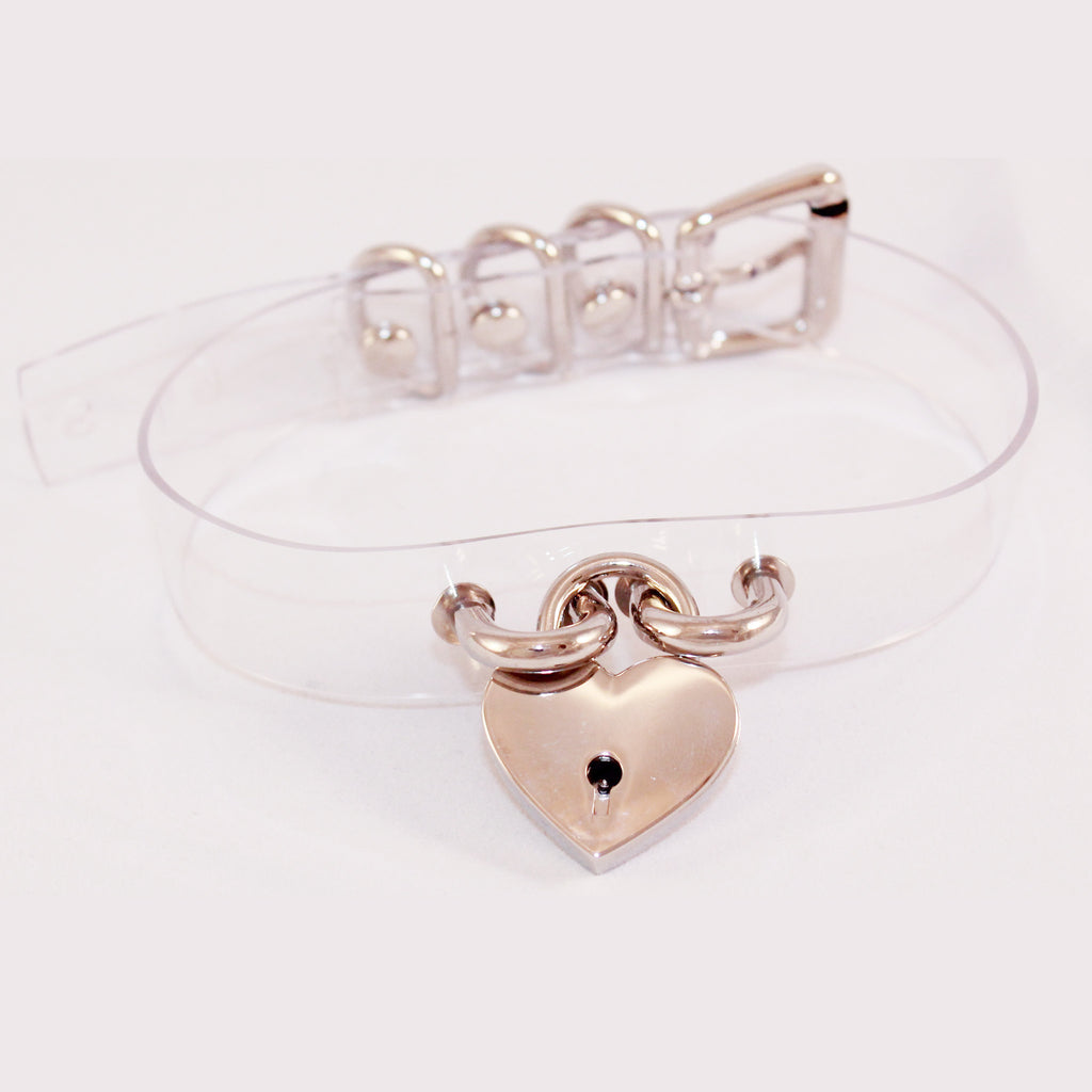BLACK FRIDAY SALE-CLEAR HEART-LOCK CHOKER