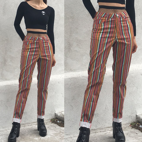 NEW! 90S GRUNGE VINTAGE High waist Trousers - RED
