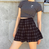 FLASH EVENT 24 HOURS DEAL - GRID High Waisted Skirt