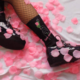 KOKO - GRUNGE ROSE TWO MOODS neon sign SOCKS (MADE IN USA- SWEATSHOP-FREE)