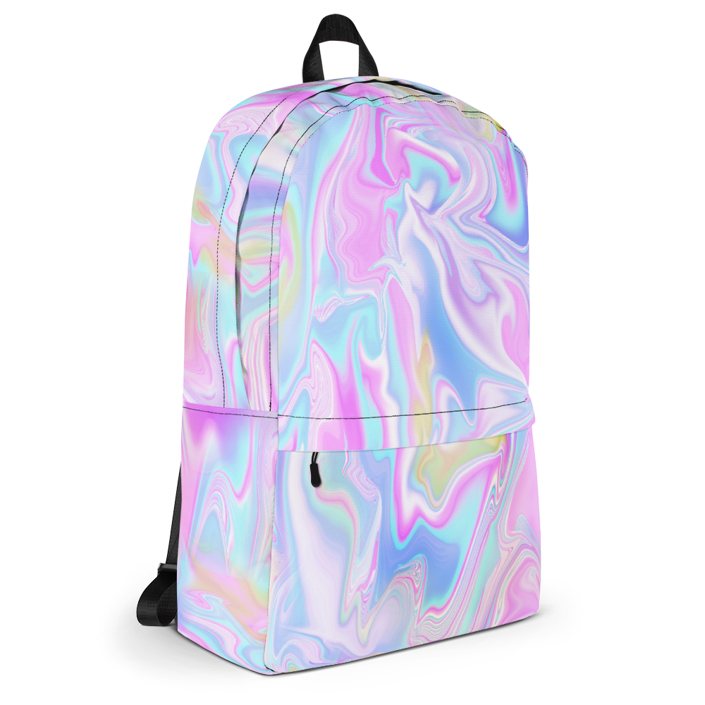 0bee3f1bb1 HOLO MARBLE TUMBLR SOFT GRUNGE BACKPACK - SWEATSHOP-FREE MADE IN USA ...