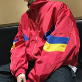2019 NEW COLOR BLOCK UNISEX-ART HOE GRUNGE WINDBREAKER