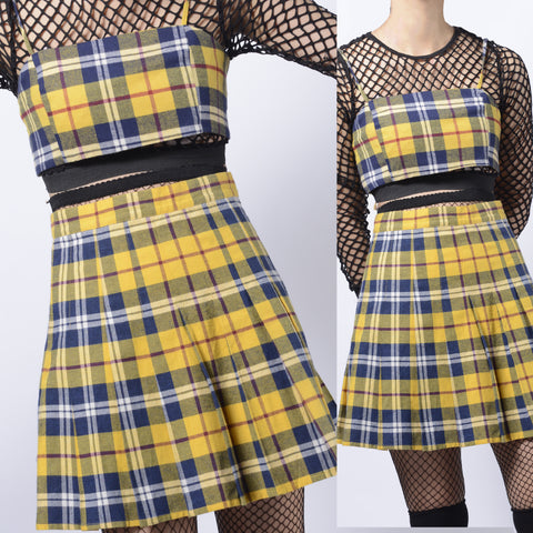2019 - LIMITED EDITION YELLOW SOFT GRUNGE PLAID SET