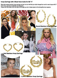Urban Style Bamboo Hoop Earrings with 5 Must Have looks for SS '17