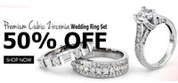 Premium CZ Wedding Ring Set- 50 % OFF