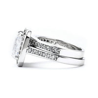 Cushion Cut CZ Wedding Ring Set
