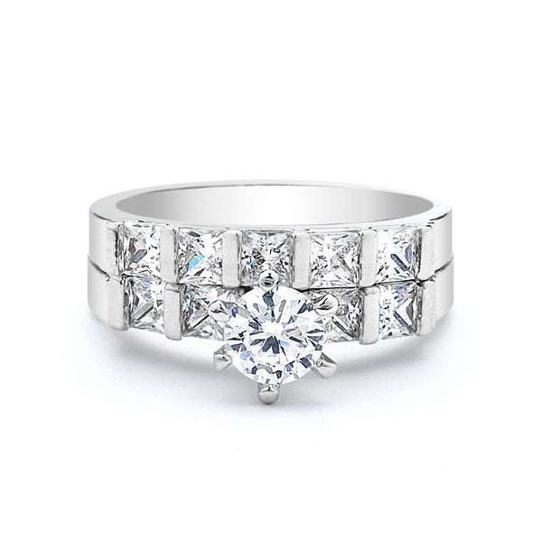 0.5 Ct Round Cut CZ Wedding Ring set