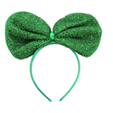 Metallic Big Ribbon Headband-Green