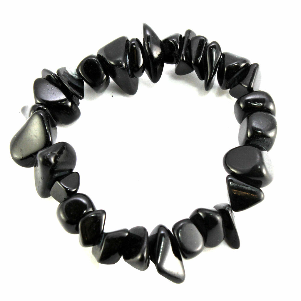 Black Chips Chunky Stretch Bracelet