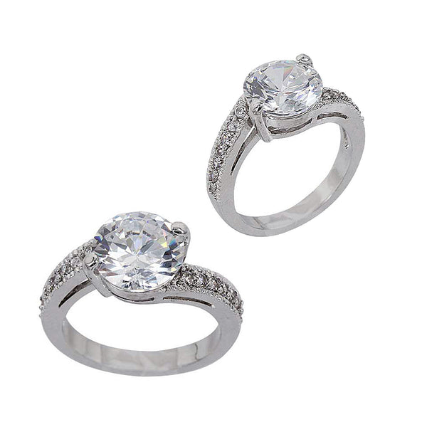 bypass cz engagement ring