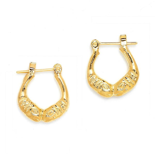 Gold Plated Oval Cut Pincatch Earrings