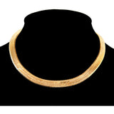 Herringbone Chain Choker Necklace