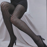Fishnet Tights Fancy Spandex Mesh Pantyhose-Queen size