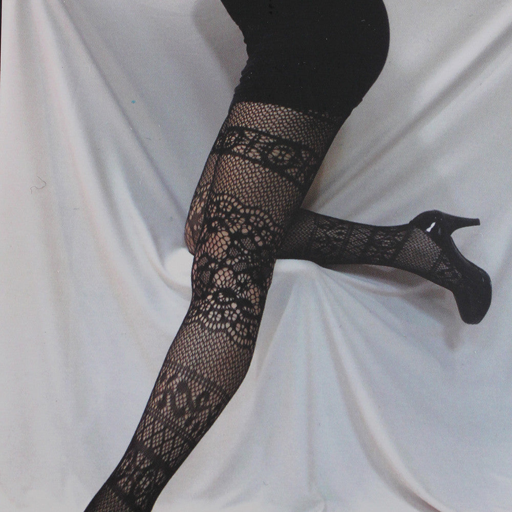 Fishnet Tights Fancy Spandex Mesh Pantyhose-Size S/M