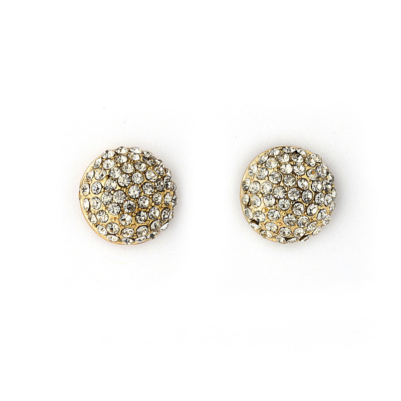 Pave Crystal Round Stud Earrings