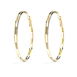 Gold Plated CZ Hoop Earrings