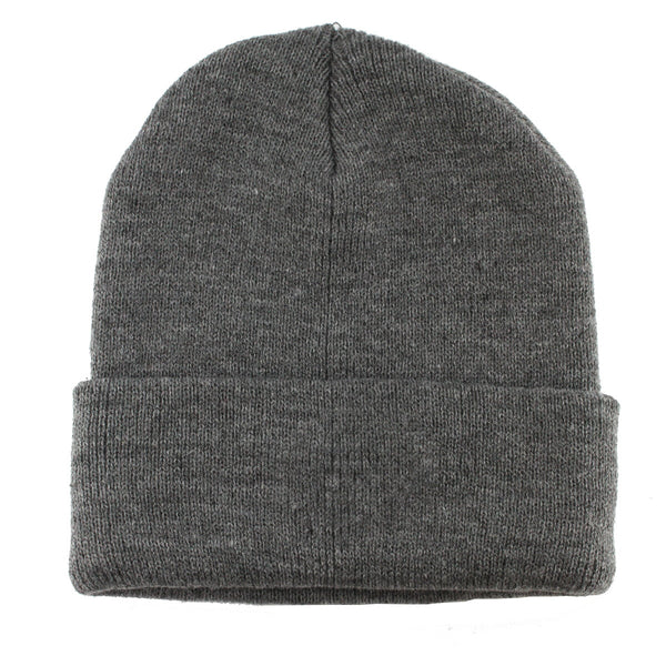 Copy of Unisex Knitted Gray Beanie Hat-One Size