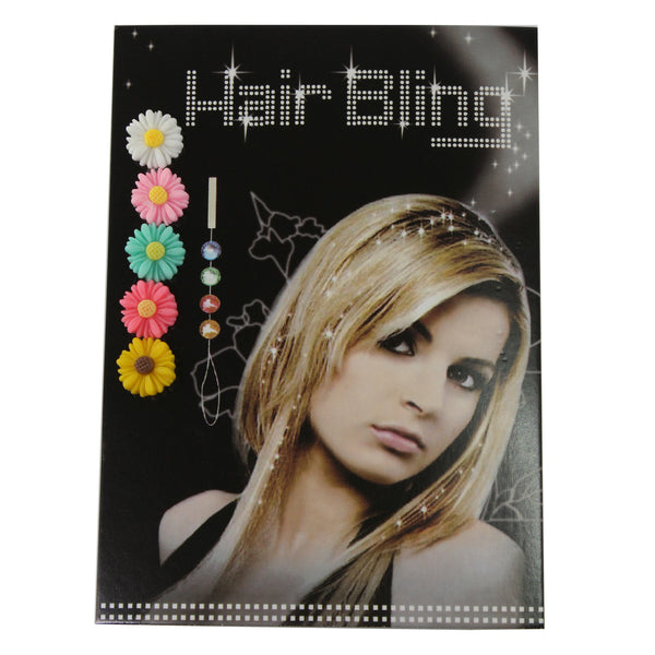 Flower Hair Bling-Fahion Extension Hair Accessory