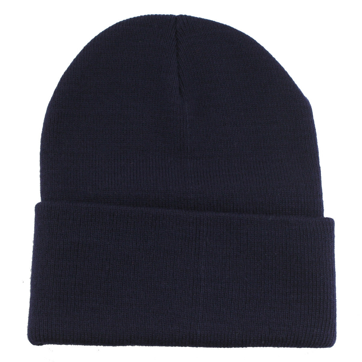 Unisex Knitted Navy Beanie Hat-One Size