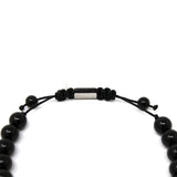 Onyx Stone Dragon Head Shamballa Bracelet for Men and Women 9 inches