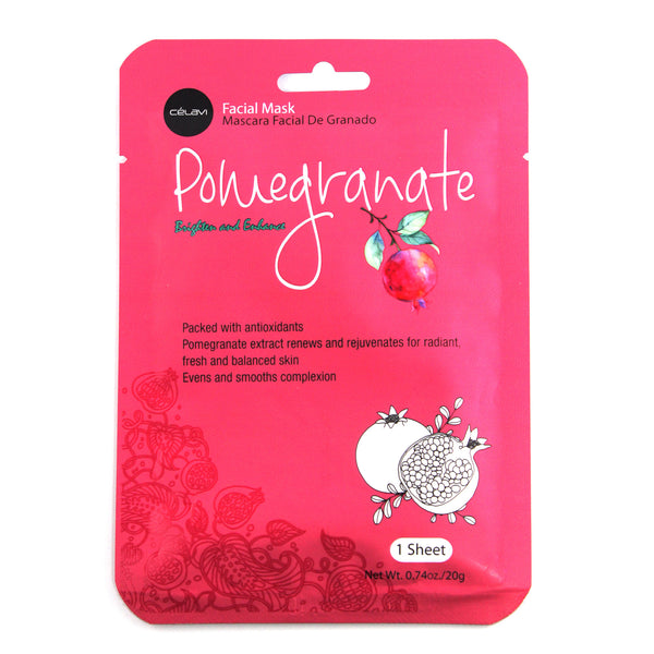 Facial Mask Pack 1 Sheet-Pomegranate