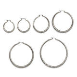 Diamond Cut Hollow Hoop Earrings