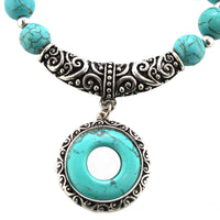 Turquoise Antique Style Stretch Bracelet