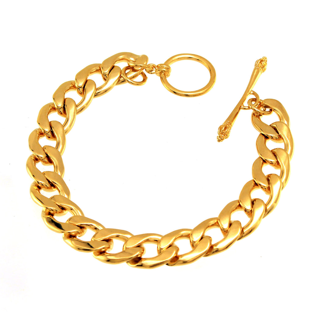 Gold Plated Cuban Linked Chain Bracelet