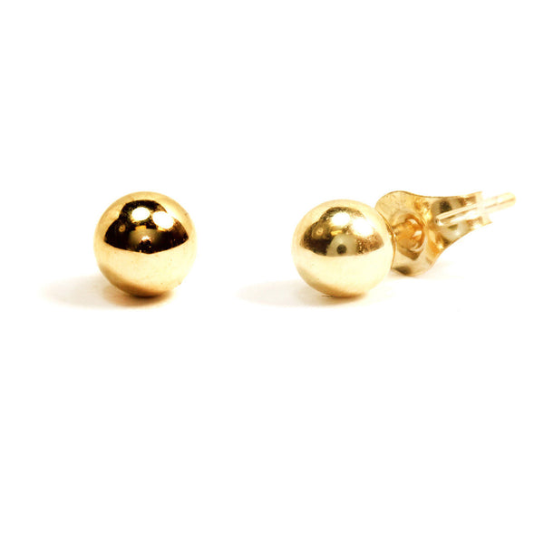 10k Gold Ball Stud Post Earrings