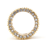 Gold Plated Boss CZ Ring
