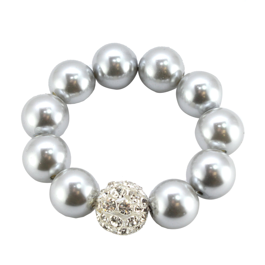 Ball Stretch Bracelet with Crystal Accents