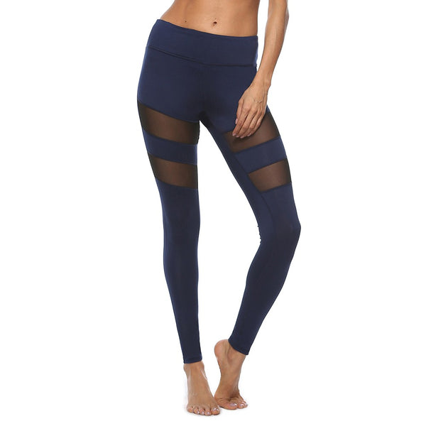 Skinny Mesh Patchwork Sexy Yoga Leggings