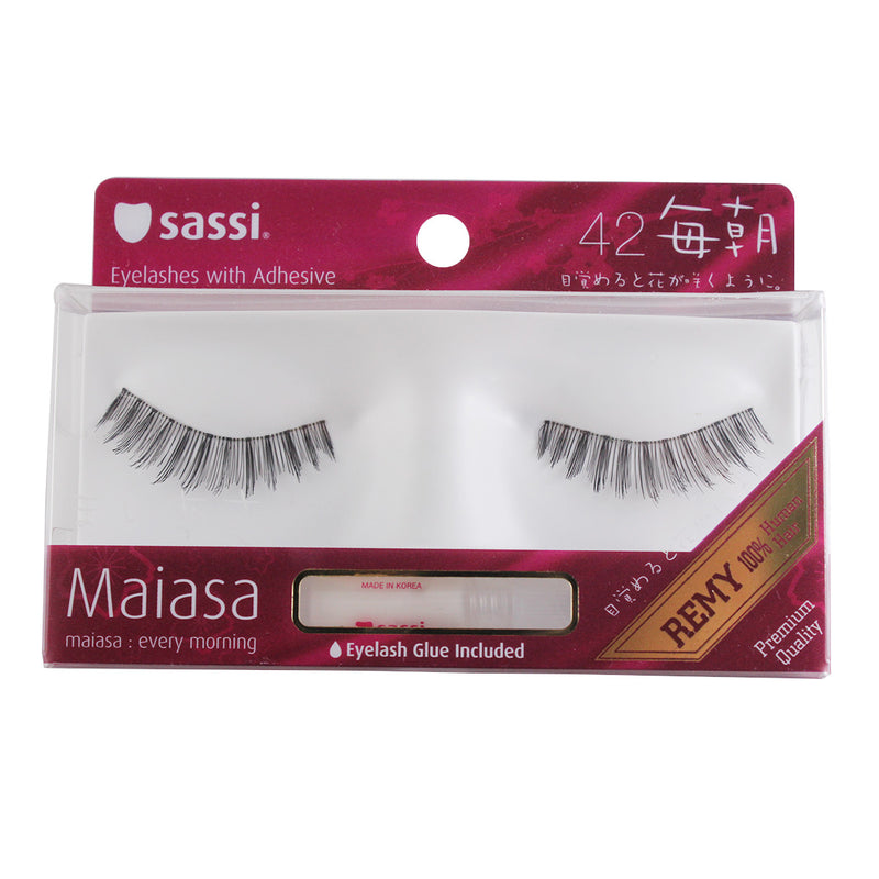 Sassi 803-042 Remy Hair Eyelashes,Balck