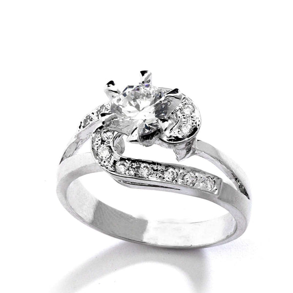 0.75 CT CZ Bypass Wedding Ring