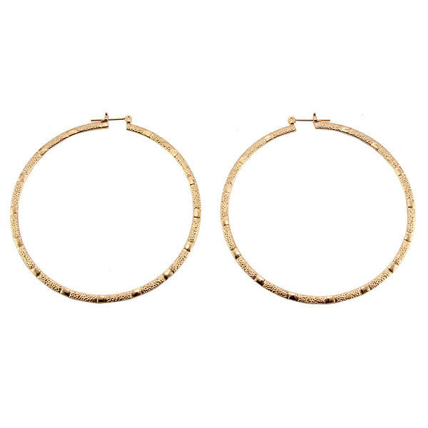 Diamond Cut Gold Plated Round Pincatch Earrings