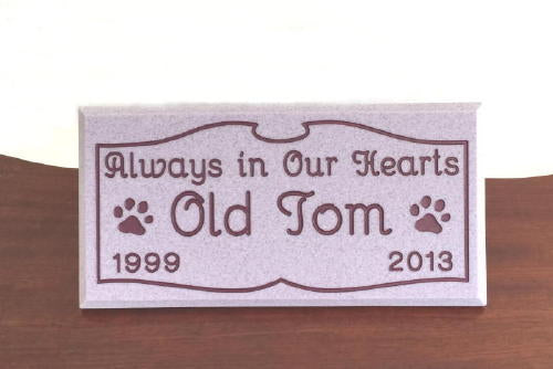 Custom Engraved Pet Grave Marker