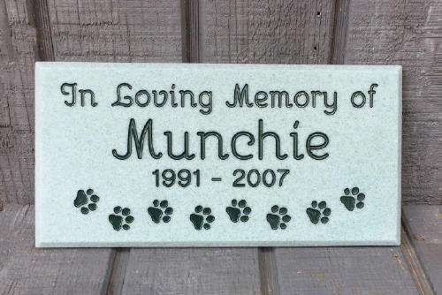 Custom Engraved Pet Memorial
