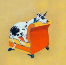 Harlequin Great Dane Decorative Art Tile