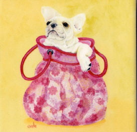 French Bulldog Decorative Art Tile