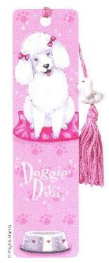 "Poodle Bookmark  ""Doggie Diva"""