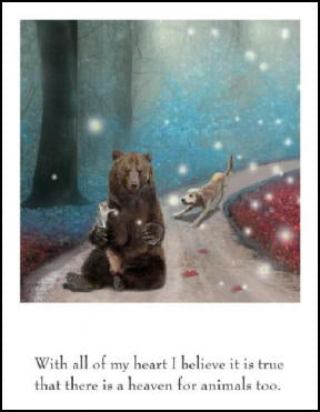 Heaven for Animals Sympathy Card