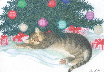 "Cat Christmas Cards ""under the tree"""