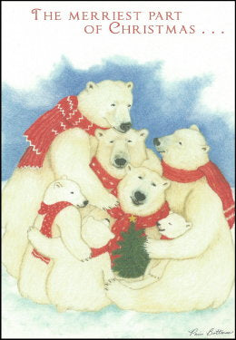 "Polar Bear Christmas Cards ""Merry Bears"""