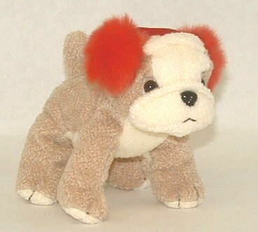 Bulldog with Ear Muffs Plush Toy ~ mini
