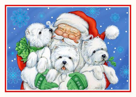 "Westie Christmas Cards ""XOXO"""