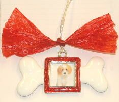 Dog Bone Christmas Ornament