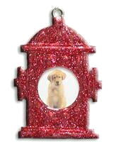 Fire Hydrant Dog Christmas Ornament
