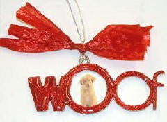 Dog Woof Christmas Ornament